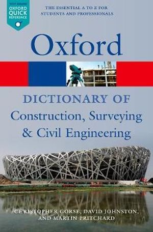 Cover of A Dictionary of Construction, Surveying, and Civil Engineering