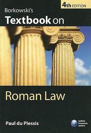 Cover of Borkowski's Textbook On Roman Law