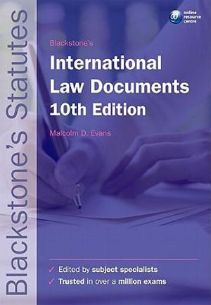 Cover of Blackstone's International Law Documents