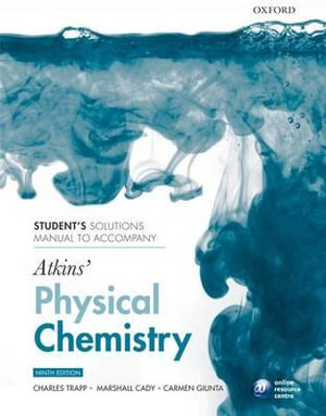 Cover of Student's Solutions Manual to Accompany Atkins' Physical Chemistry