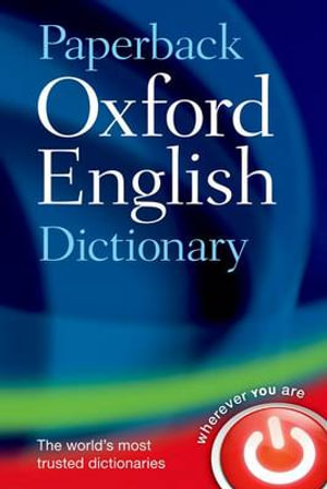 Cover of Paperback Oxford English Dictionary