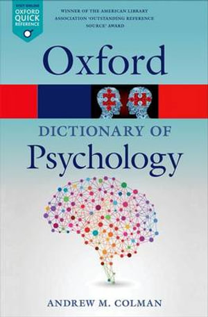 Cover of A Dictionary of Psychology