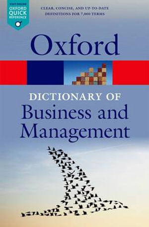 Cover of A Dictionary of Business and Management
