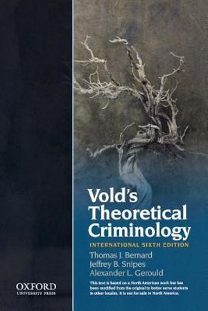 Cover of Vold's Theoretical Criminology