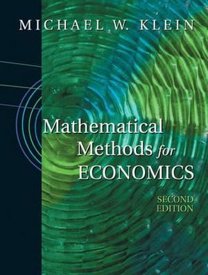 Cover of Mathematical Methods for Economics
