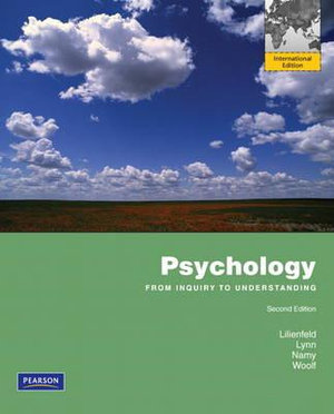 Cover of Psychology: From Inquiry to Understanding Pearson International Edition