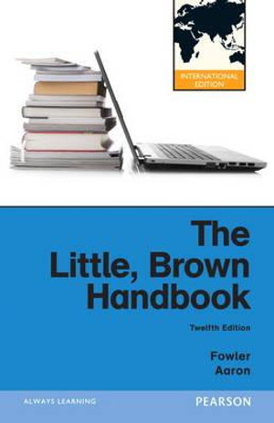 Cover of The Little, Brown Handbook Pearson International Edition