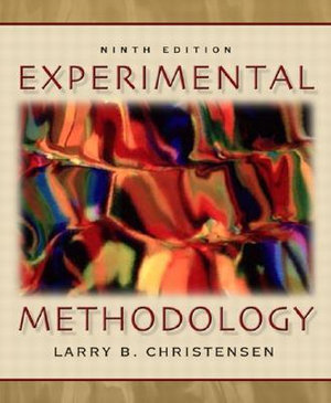 Cover of Experimental Methodology