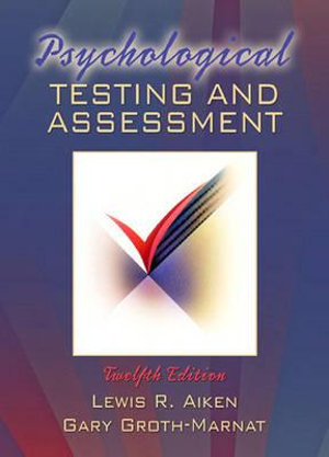 Cover of Psychological Testing and Assessment Cp