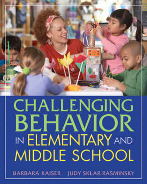Cover of Challenging behavior in elementary and middle school