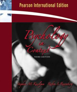 Cover of Psychology in Context