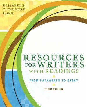 Cover of Resources for Writers with Readings (Book Alone)