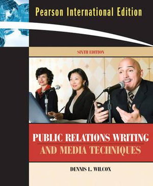Cover of Public Relations Writing and Media Techniques