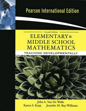 Cover of Elementary and Middle School Mathematics: Teaching Developmentally Pie