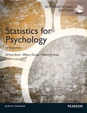 Cover of Statistics for Psychology Pearson International Edition
