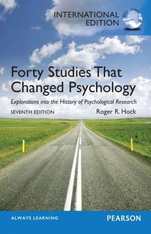 Cover of Forty Studies that Changed Psychology Pearson International Edition