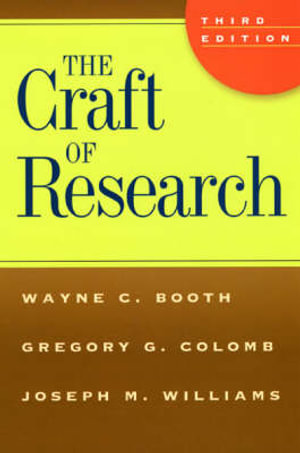 Cover of The Craft of Research 3ed