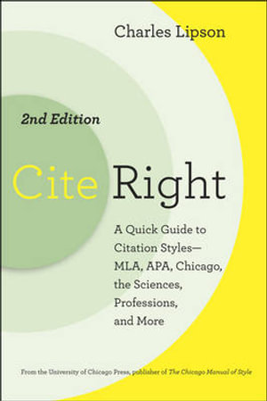 Cover of Cite Right, Second Edition