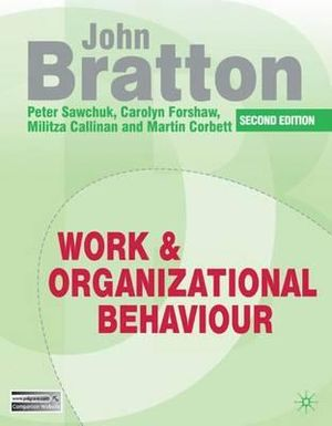 Cover of Work and Organizational Behaviour