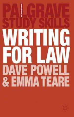 Cover of Writing for Law