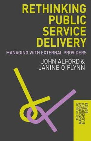 Cover of Rethinking Public Service Delivery