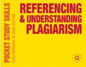 Cover of Referencing and Understanding Plagiarism