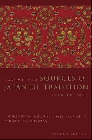 Cover of Sources of Japanese Tradition