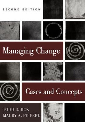 Cover of Managing Change: Text and Cases