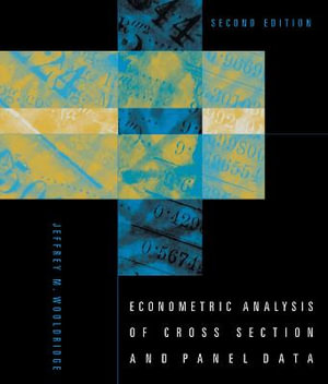 Cover of Econometric Analysis of Cross Section and Panel Data
