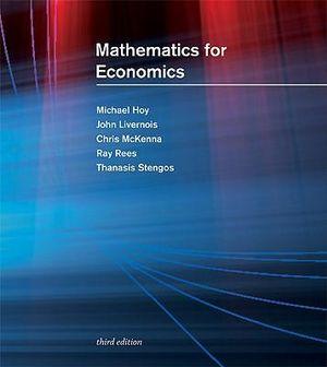 Cover of Mathematics for Economics 3ed