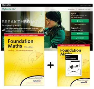 Cover of Foundation Maths MyMathLab Global Pack