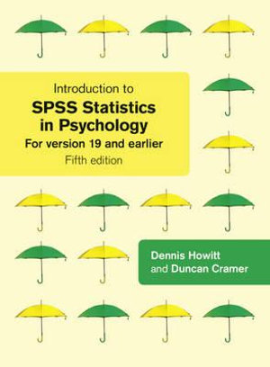 Cover of Introduction to SPSS Statistics in Psychology