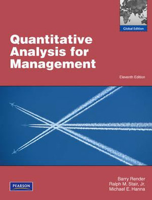 Cover of Quantitative Analysis for Management Pearson International Edition      Global Edition