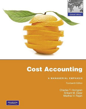 Cover of Cost Accounting Pearson International Edition Global Edition