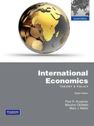 Cover of International Economics Pearson International Edition Global Edition