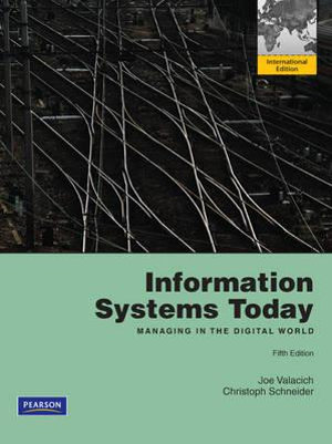 Cover of Information Systems Today Pearson International Edition Global Edition