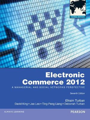Cover of Electronic Commerce 2012 Pearson International Edition Global Edition