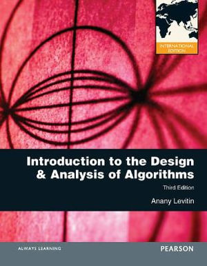 Cover of Introduction to the Design and Analysis of Algorithms
