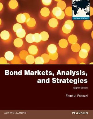 Cover of Bond Markets, Analysis and Strategies Glibal Pearson International      Edition