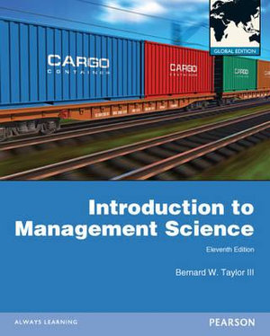 Cover of Introduction to Management Science Pearson International Edition        Global