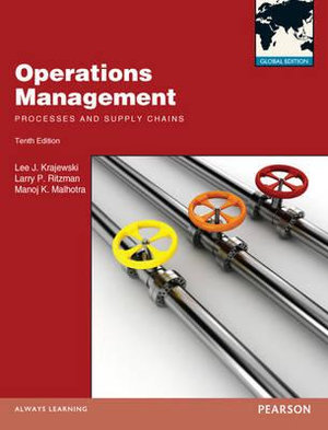 Cover of Operations Management Pearson International Edition Global Edition