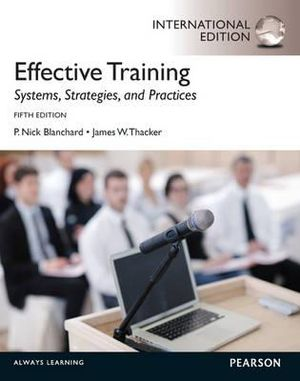 Cover of Effective Training Pearson International Edition Mechanical