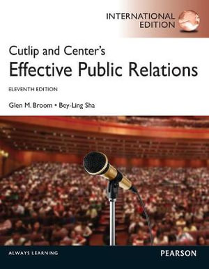 Cover of Cutlip and Center's Effective Public Relations Pearson International    Edition Mechanical