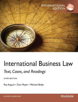 Cover of International Business Law Pearson International Edition Mechanical