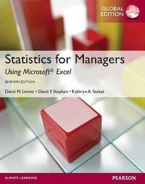 Cover of Statistics for Managers Using Microsoft Excel Pearson International     Edition Global