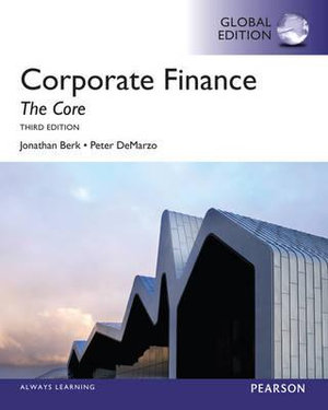 Cover of Corporate Finance: The Core Pearson International Edition Global