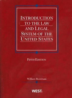 Cover of Introduction to the Law and Legal System of the United States