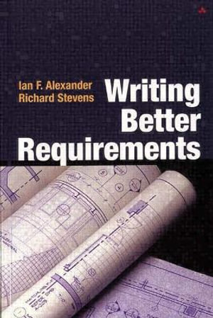 Cover of Writing Better Requirements