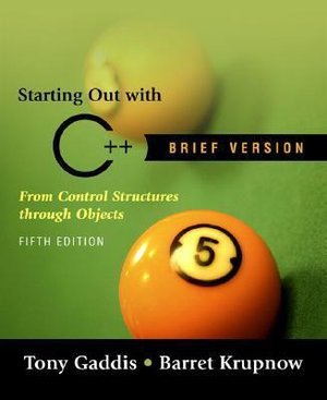 Cover of Starting Out with C++ Brief Version