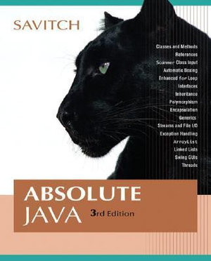 Cover of Absolute Java